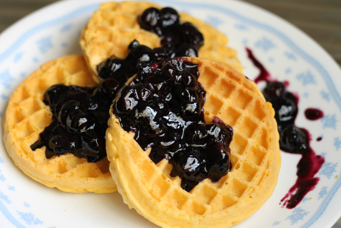 Blueberry Jam Waffle Will Melt Your Mouth Faster Than You ...