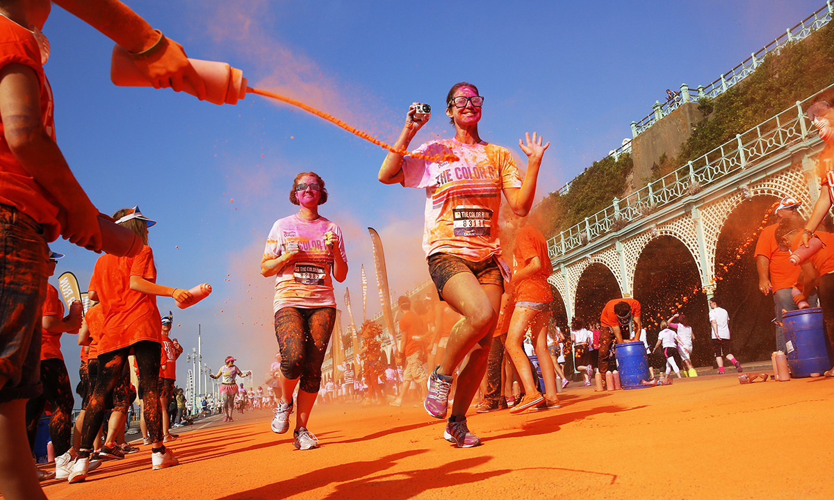 Be A Part Of The Colour run Which Will surely Be The Happiest 5k On The Planet