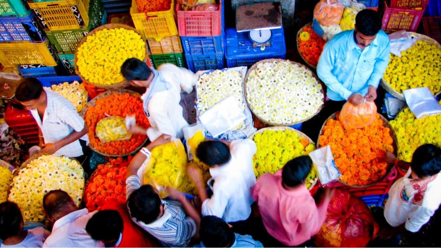 Image result for Ghazipur Village Flower Market