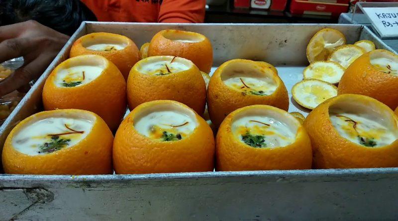 Beat The Heat With This Orange Filled With Frozen Rabri Dessert!