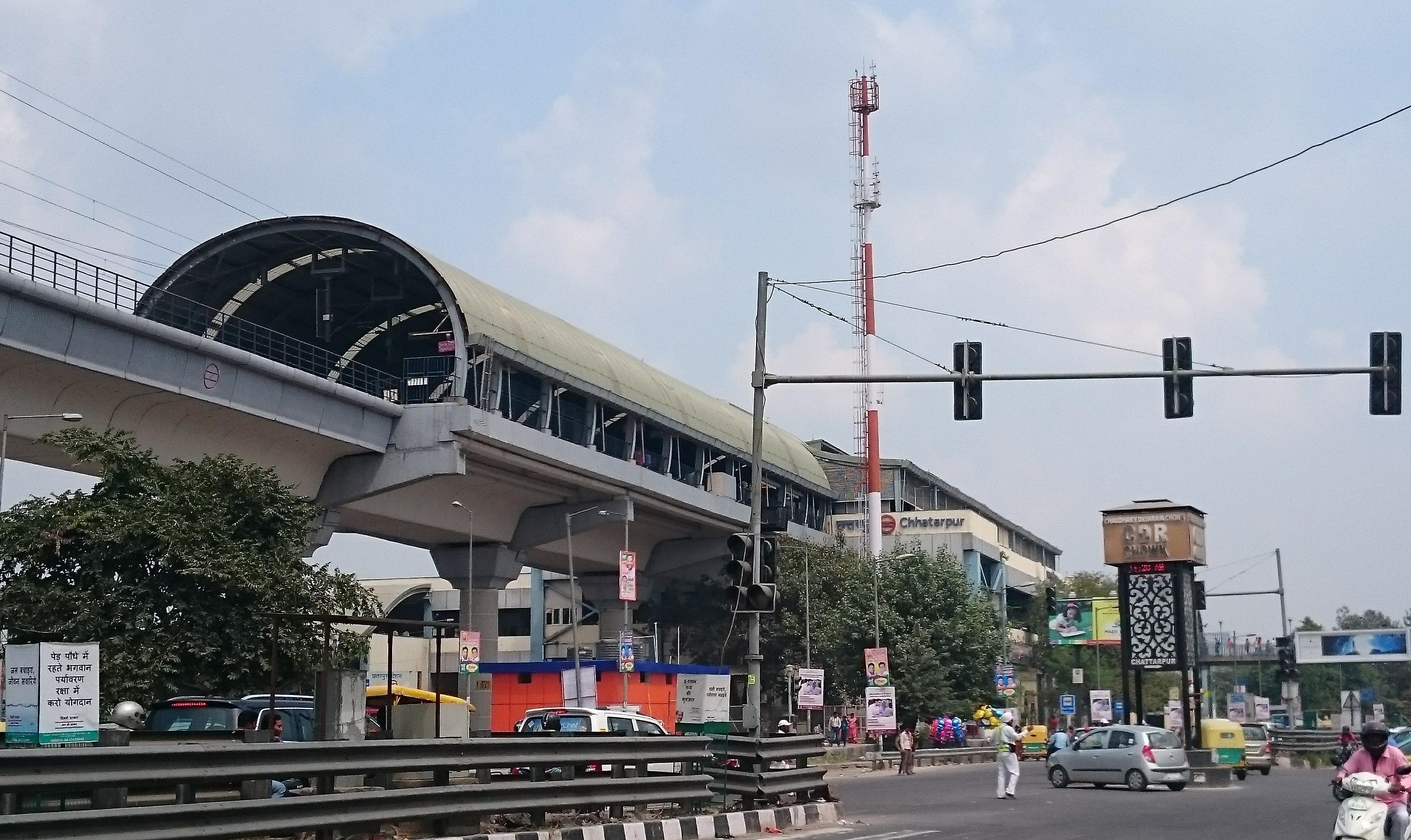 chhatarpur metro station
